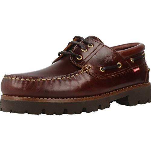 Fluchos | Zapato de Hombre | Richfield F0046 Pull Castaño Zapatos Light | Zapato de Piel de Ternera de Primera Calidad | Cierre con Cordones | Piso de Goma Personalizado