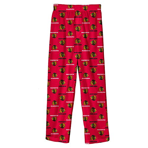 Outerstuff NHL Youth Boys (4-20) Team Logo Lounge Pants, Chicago Blackhawks Red Large (14-16)