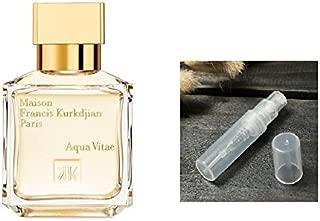 Maison Francis Kurkdjian AQUA VITAE EDT 2 ml 0.06 oz Spray Mini Size 100% Authentic