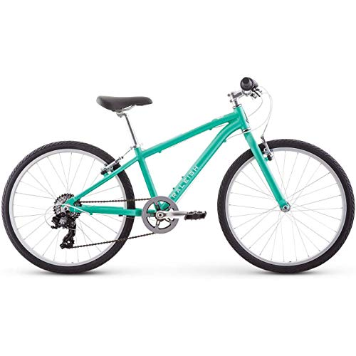Raleigh Bikes Alysa 24 Kids Flat Bar Road Bike for Girls Youth 8-12 Years Old, Teal