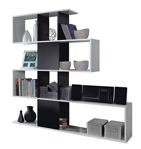 Esidra Libreria Design, bifacciale, Laminato Bianco, 145 x 145 x 29 cm