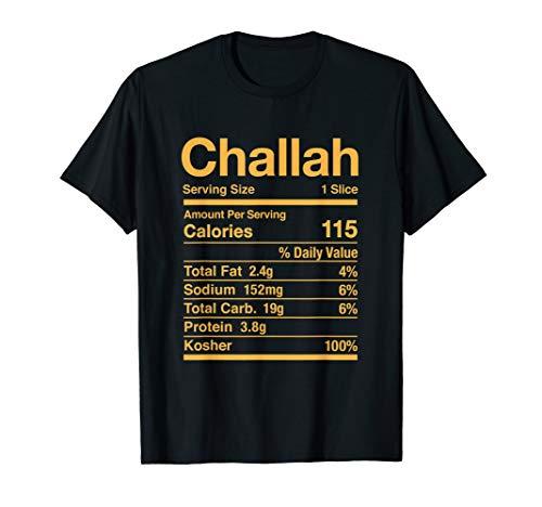 Challah Nutrition Facts Jewish Kosher Food Hanukkah T-Shirt