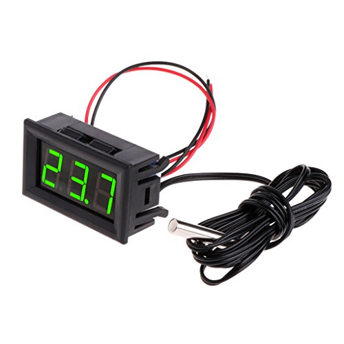 Cuigu - Termómetro digital coche - 50~110° C - Pantalla LED - 5-12V CC