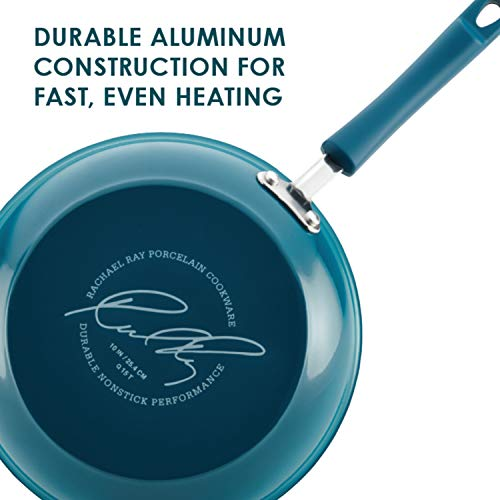 Batterie de Cuisine 10 Pièces Antiadhésive en Porcelaine Émaillée de Marque Rachael Ray - 4