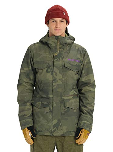 Burton Mens Covert Jacket Slim, Worn Camo, Small