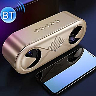 Mini Portable Stereo Speaker S6 Portable Subwoofer Mini Card Bluetooth Speaker (Black) (Color : Gold)