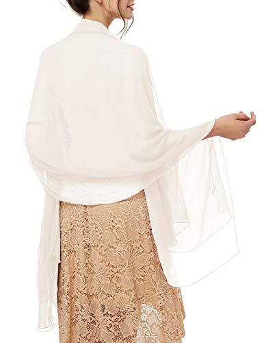 bridesmay Damen Strand Scarves Sonnenschutz Schal Sommer Tuch Stola für Kleider in 29 Farben Off White