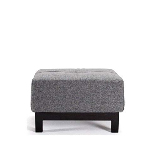 Pouf Design BIFREOST Excess Deluxe Gris Twist Charcoal 65 * 65 cm