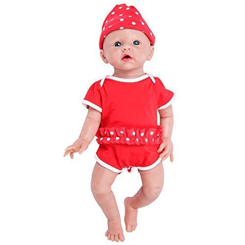 IVITA Silicone Baby Dolls,Not Vinyl Material Dolls,Real Full Body Silicone Reborn Baby Dolls, Soft Newborn Baby Dolls-19inch Girl