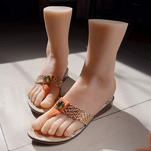 Pie de Silicona, Juguetes Fetiche, Silicona Maniquí Pie, Pies Femeninas de Silicona, Fetiche de pies, Modelo de pies de Silicona Modelos Femeninos Atractivos con Canal Maniquí