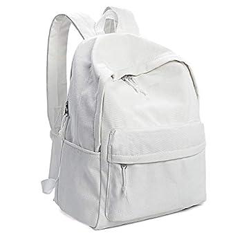 white canvas bookbag