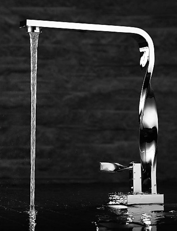 KHSKX Contemporary Chrome Finish Brass One Hole Single Handle Bathroom Sink Faucet