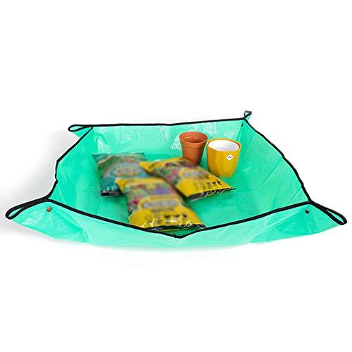 KUYG abbaubare Rasensamen-Matte, PE Pflanzunterlage Hochbeet Pflanzsack wasserfest, Gartenarbeitsmatte für Pflanzen Garten