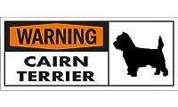 WARNING(Orange) CAIRN TERRIER ワイドマグネットサイン:ケアーンテリア Mサイズ