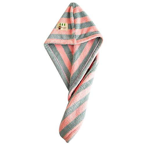 FBGood Handtuch für Haare, Turban Super saugfähig, magisches Badetuch für Haartrockner, ultraschnelles Mikrofaser, saugfähig, wasserfest, schützt das Haar, grün, S