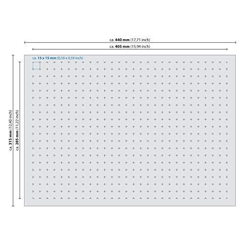 HMF 1451-90 Rasterschaumstoff, Würfelschaum, 440 x 315 mm, Koffereinlage, Tabletop, Höhe: 90 mm