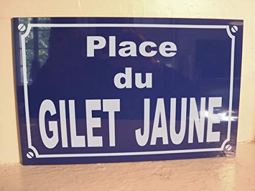 gilet jaune Place du Plaque DE Rue déco Cadeau