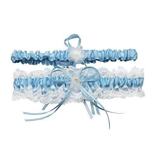 CHIC DIARY Damen Spitze Strumpfband Hochzeit Hochzeitsstrumpfband mit Schleife Beinband Hochzeitskleid Brautkleid Accessoires