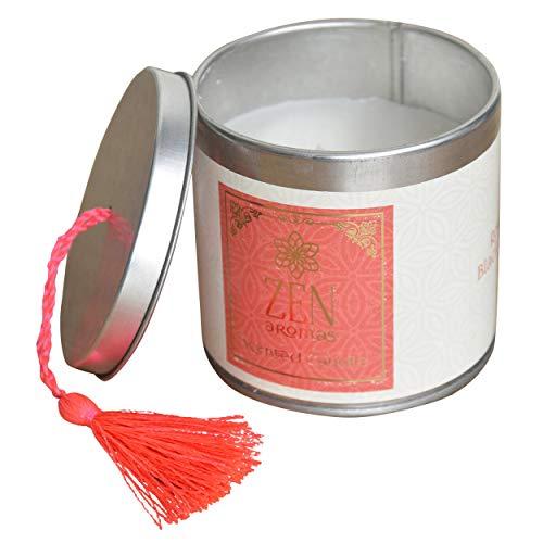 Hogar & Mas geurkaars cadeau 120 g, geurkaarsen Zen met decoratieve doos, 7,5 x 7,5 x 7 cm, roze