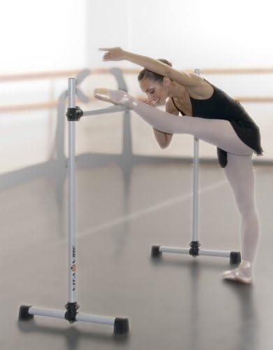 Ballet Barre BD48-W Portable 4ft Wood Double Bar-Stretch//Dance Bar-Vita Vibe NEW