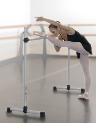Vita Vibe B48 Prodigy Series Portable Single Freestanding Ballet Barre, Stretch/Dance Bar, 4-Feet