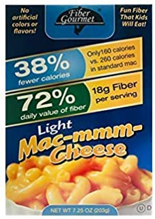 fiber gourmet mac and cheese