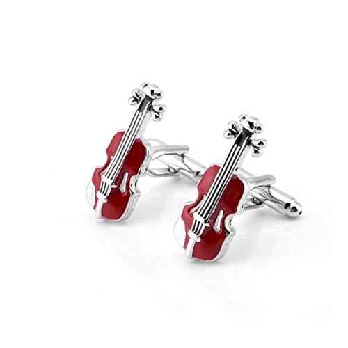 ZYCX123 Violín Rojo Francesa Gemelos Gemelos de Hombre Cello Personalizada personales Gemelos Regalo 28 * 11mm Regalos para los Amigos