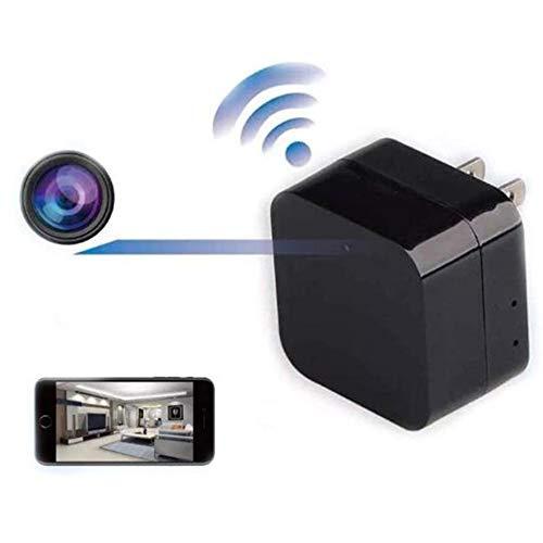 GEQWE Cámaras Espía Ocultas, Vigilancia De Seguridad Doméstica Mini Portátil 1080P Smart Wall Cargador USB Cámara P2P Grabadora Inalámbrica, para Interiores Al Aire Libre