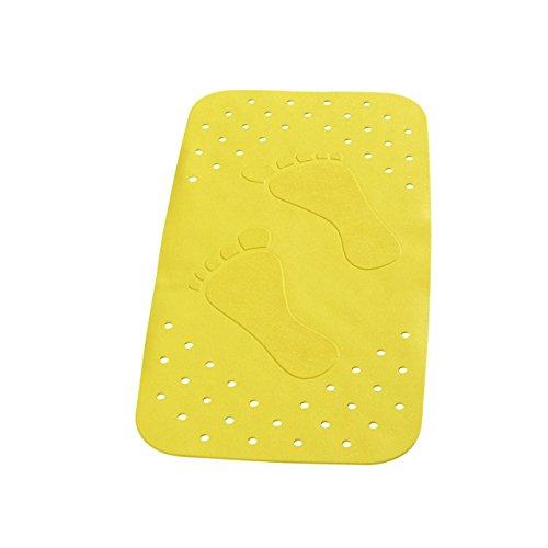 """Wanneneinlage Wannenmatte Sicherheitseinlage für die Badewanne """"LITTLE FEETS"""" Größe: 72 x 38cm - FARBE: Gelb"""