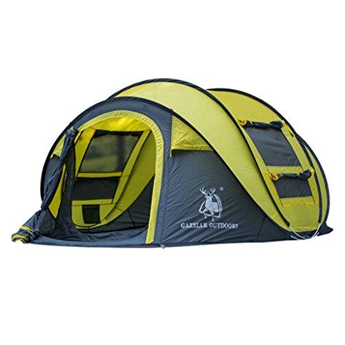 Zhongwei - bâche Tentes extérieures automatiques Outdoor 3-4 personnes Family Package tente (Color : B)