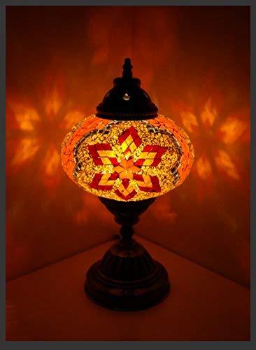 Mosaiklampe Mosaik - Tischlampe L Stehlampe orientalische lampe Orange Samarkand-Lights