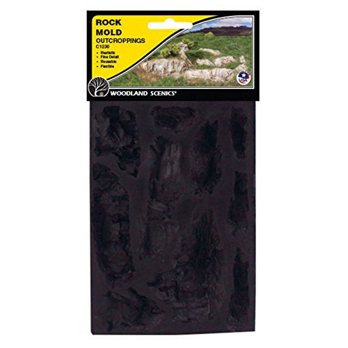 Woodland Scenics WS 1230 Rock Mold-Outcroppings - 5 x 7