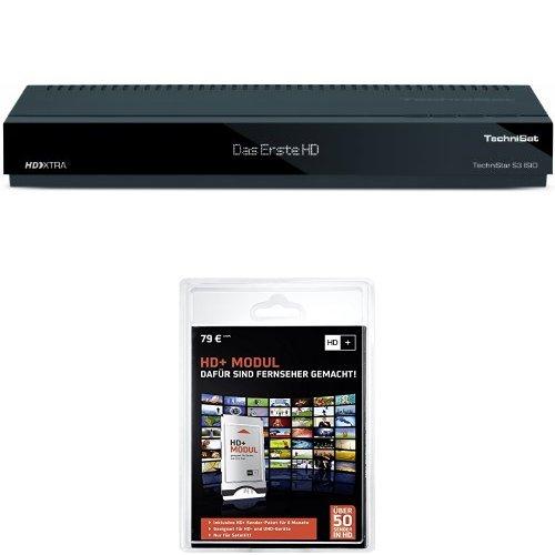 TechniSat TechniStar S3 ISIO HDTV Satelliten-Receiver (Internetfunktionalität, DVR-Ready, CI+, UPnP, Ethernet, SCART, USB) schwarz + HD Plus Modul inkl. HD+ Sender-Paket für 6 Monate gratis