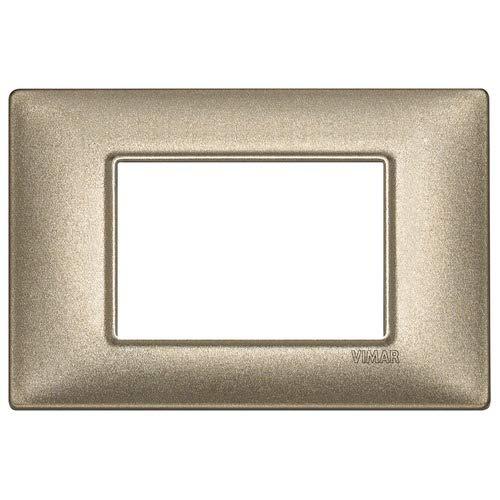 Vimar 14653.70 Plana Placca elettrica 3 Moduli Bronzo Metallizzato