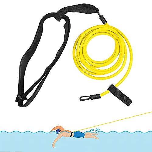 Cinturón de natación ajustable para piscina, resistencia de natación, cinturón de natación para piscina, anticorriente para colgar en la piscina