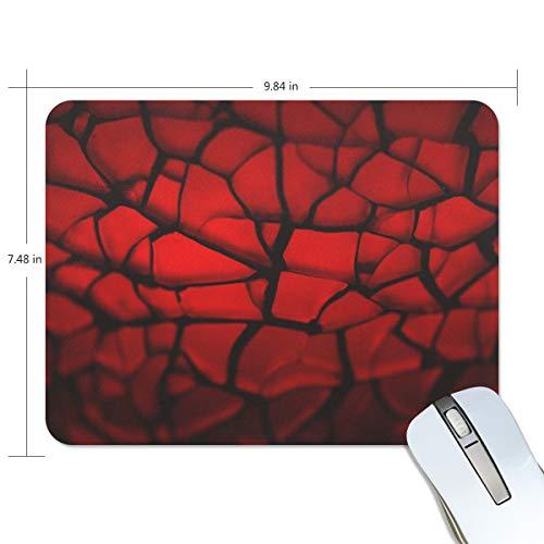 Preisvergleich Produktbild MONTOJ Gaming Mauspad Rot Split Tiles Computer Tastatur Mauspad,  wasserabweisend,  rutschfeste Unterseite,  ideal für Gaming und Arbeiten