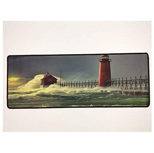 Mouse pad Lighthouse Mouse Pad Speed Lock Edge Keyboard Game Mouse Pad Rubber Base Can Be Stably Gripped On A Smooth Surface - Non-Slip Gaming Mouse Pad Computer mat