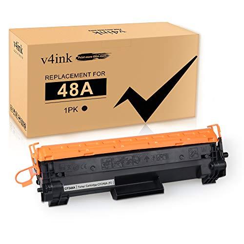 V4INK 1PK Compatible 48A Toner Cartridge Replacement for HP 48A CF248A Toner Cartridge Black Ink for use in HP LaserJet Pro M15w M15a M16w M16a MFP M29w M29a M28w M28a Printer