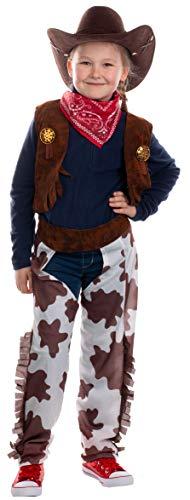 Brandsseller Kinder Kostüm Verkleidung für Karneval Fasching Halloween - Cowboy M