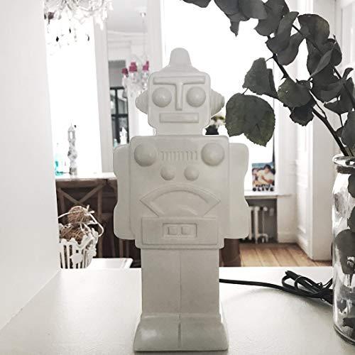 Veilleuse lampe robot blanche pour chambre d'enfants - House of Disaster - EURROBOT