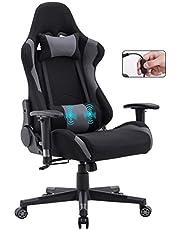 Delman Gamings 0032 Gamingstoel, racestoel, bureaustoel, computerstoel, massagefunctie, managersstoel, ergonomisch design