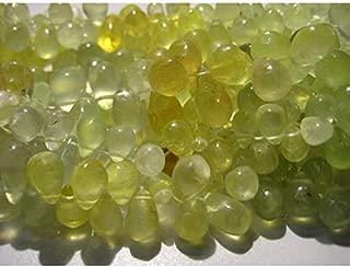 Jewel Beads Natural Beautiful jewellery Prehnite Tear Drop Beads - 6x10mm Each - Briolette Beads - Strand 4 InchesCode:- JBB-23109