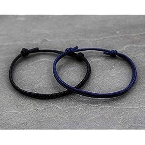 2x Armband Surfer Armband Schwarz Blau Dunkelblau Armbänder individuellisierbar Freundschaft Geschenk Handmade Schmuck…