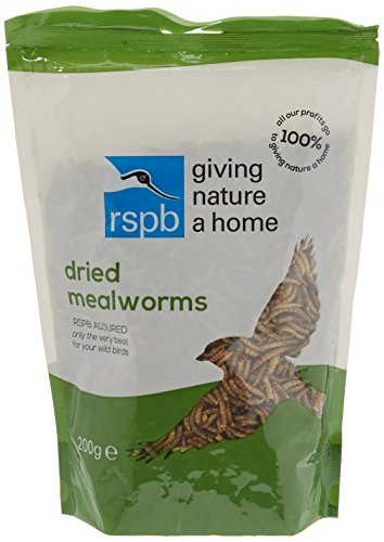 RSPB Dried Mealworms 200g Wild bird Food, supporting RSPB Charity, meal...