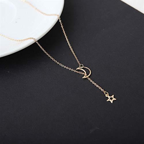Collar colgante del corazón Collar de gargantilla étnica colgante collar corto para mujeres (Metal Color : 11 Gold)