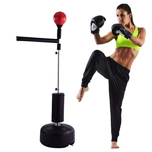 HUA JIE Freestanding Boxing Bag,Punchingball Boxsack, Standboxsack Freistehender Mit Hohe Federkraft Für Kinder Jugend Erwachsene Stress Haustraining,Höhenverstellbar Von Ca 125Cm-175Cm