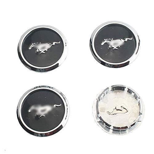 JYEBJD 4 Pezzi Cappucci Centrali delle Ruote Adesivo Distintivo 3D per Ford Mustang Gt500, Coperture Antipolvere per Ruote Cover con Stemma Distintivo Adesivi Logo Wheel Trim Accessori, 65MM