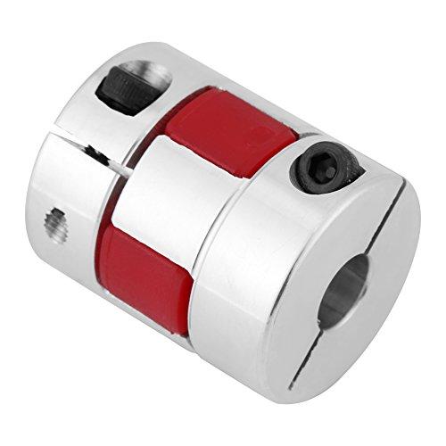 Acoplamiento de Eje, Acoplamientos de Eje Flexibles, Eje de Acoplamiento de Ciruela Acoplamiento de Aleación de Aluminio Connect D25 L30 Bombas Ventiladores Compresores Máquinas (10mm-12mm)