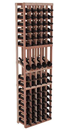 Wine Racks America Redwood 5 Column Display Row Wine Cellar Rack Unstained