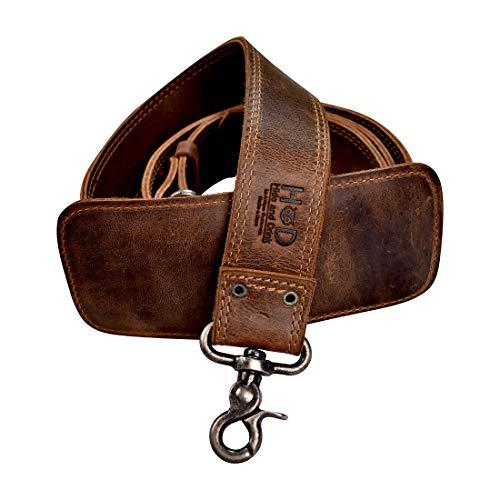 Hide & Drink, Leather Messenger Bag Strap Replacement, Adjustable Shoulder Strap for Laptop, Camera & Travel Bags, Handmade :: Bourbon Brown